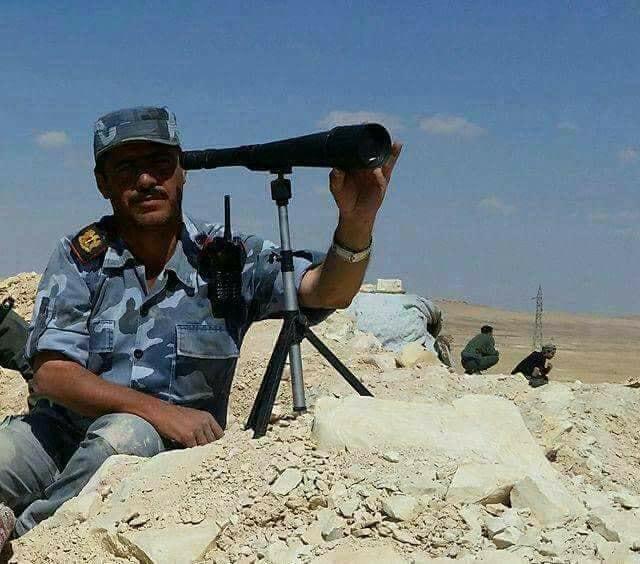 صورة لغم لتنظيم الدولة يقتل 5 ضباط من قوات النظام
