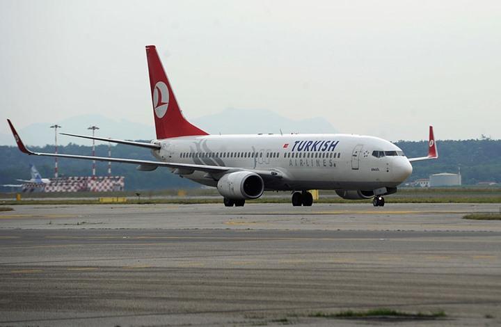 صورة هبوط اضطراري لطائرة تركية بسبب طائر