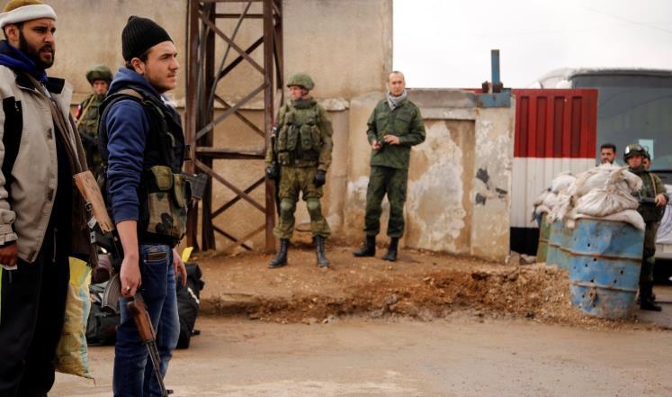 صورة اتفاق وقف إطلاق نار بين القوات الروسية والمعارضة بحمص