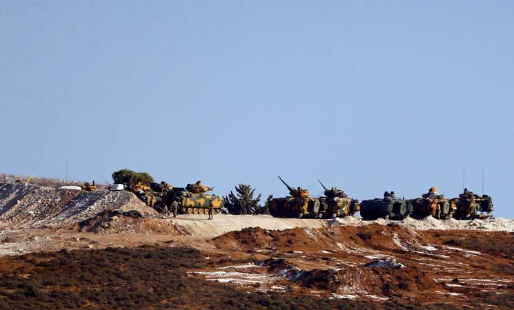صورة مصادر: الجيش التركي يوسع انتشاره شمال غرب سوريا
