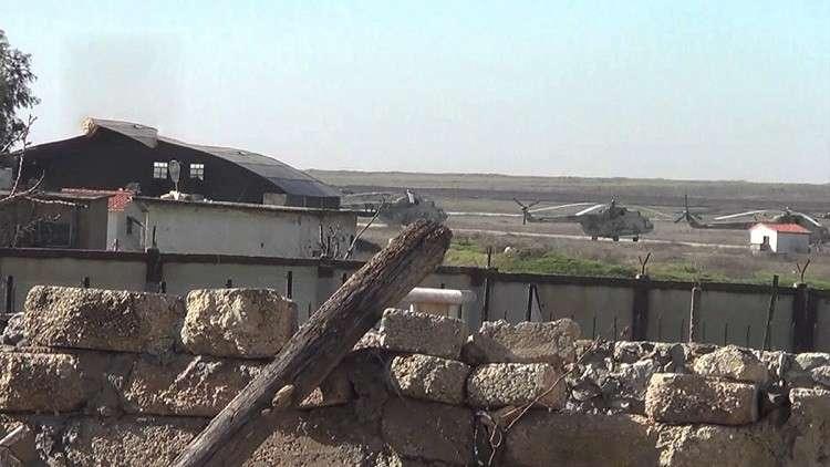 """صورة قوات """"قسد"""" تسلم مطار """"منغ"""" لروسيا"""