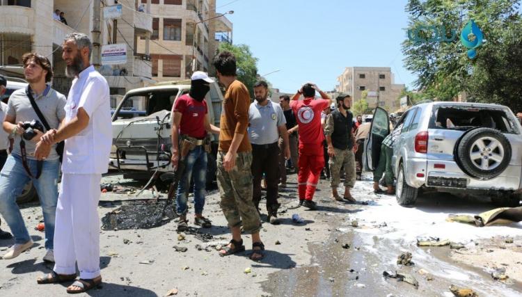 صورة انفجار عبوة ناسفة شمال إدلب