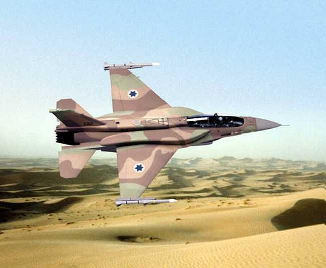 صورة طائرات إسرائيلية تقصف موقعا للأسد بدمشق