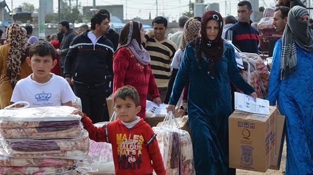 صورة مساعدات تركية لمخيمات النازحين في إدلب