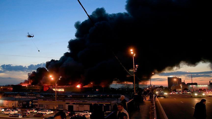 صورة إجلاء 3 آلاف شخص جراء حريق ضخم في موسكو