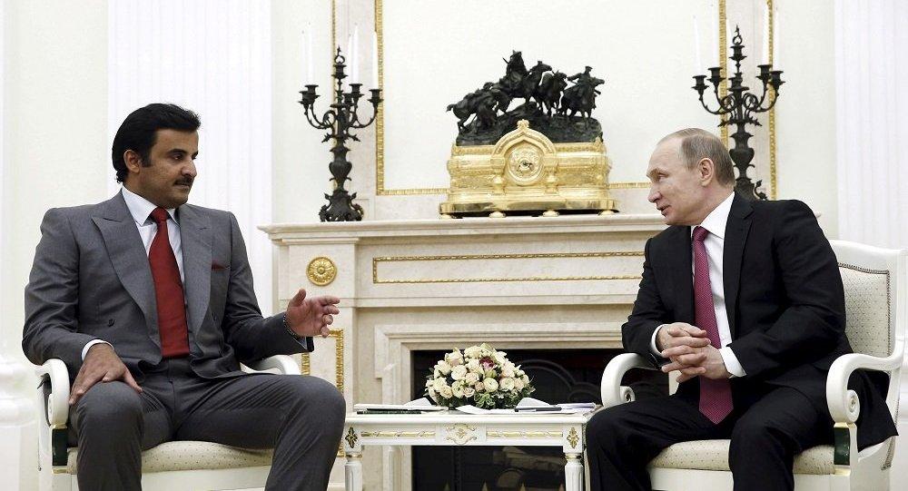 صورة مباحثات روسية قطرية حول سوريا