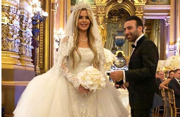 """صورة زفاف أسطوري لحفيدة """"خدام"""" بباريس (شاهد)"""