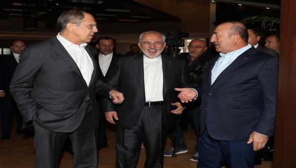 """صورة لقاء تركي روسي إيراني في أنطاليا تحضيراً لـ""""سوتشي"""""""