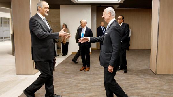 صورة وفد الأسد يتوجه إلى جنيف الأربعاء