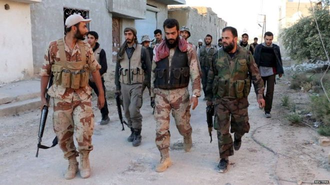 صورة مواجهات مسلحة بين جيش الإسلام وفيلق الرحمن