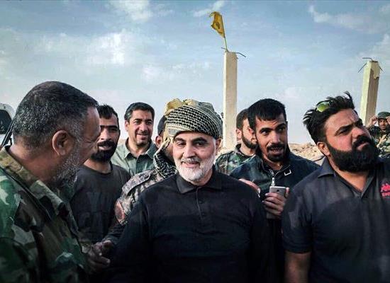 """صورة سليماني يرافق ميليشيا """"إرهابية""""بسوريا"""