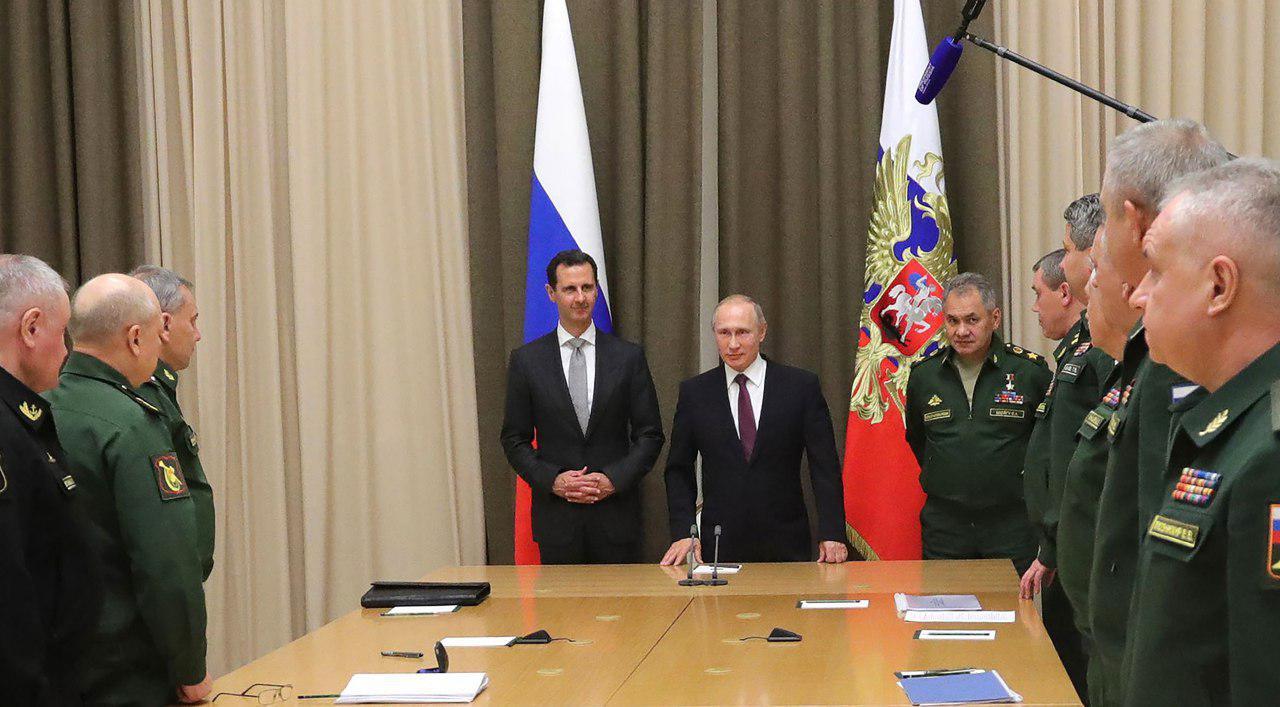 """صورة بوتين للأسد: أنت آخر زعيم """"علوي"""""""