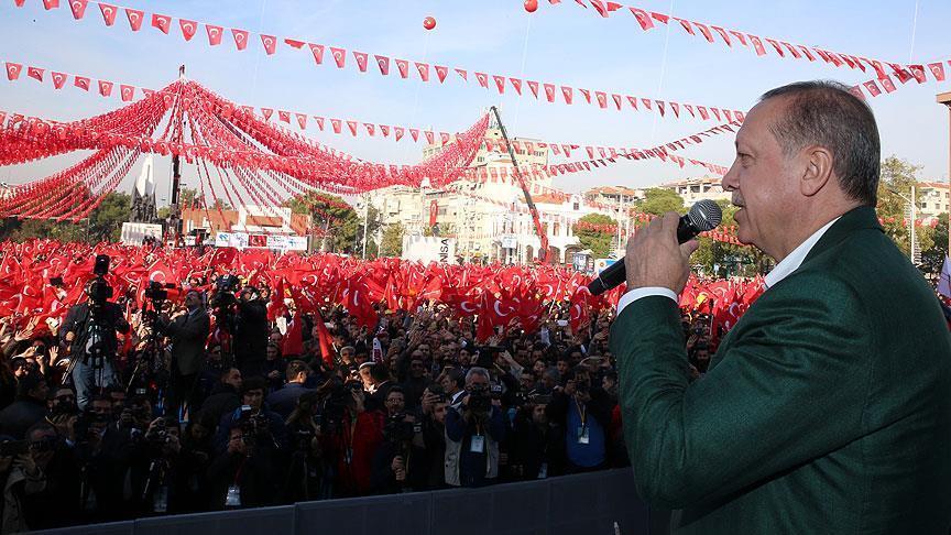 صورة أردوغان: سندمر معسكرات الإرهابيين بسوريا والعراق