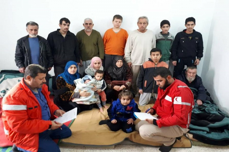 صورة المعارضة تسلم 15 مفقودا من كفريا والفوعة دون مقابل