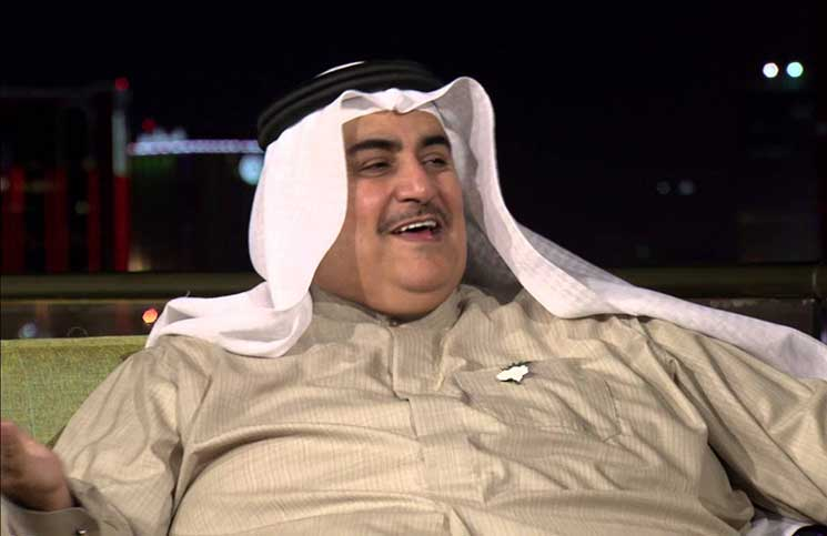 صورة وزير خارجية البحرين: فلسطين قضية جانبية