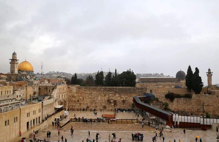 """صورة إسرائيل تعتزم بناء """"محطة ترامب"""" قرب الحائط الغربي في القدس"""