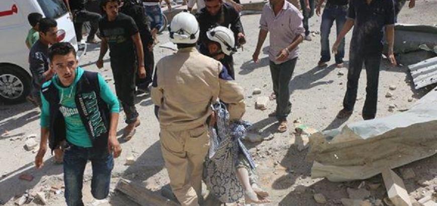 صورة بعد مجزرة إدلب..المعارضة تطالب بتحرك دولي ضد روسيا