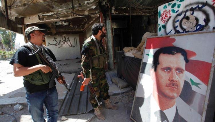صورة اقتتال بين مخابرات الأسد وشبيحته في حلب
