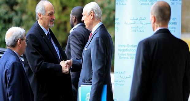 صورة وفد الأسد: لن نعود إلى جنيف إلا بتحقق شروطنا