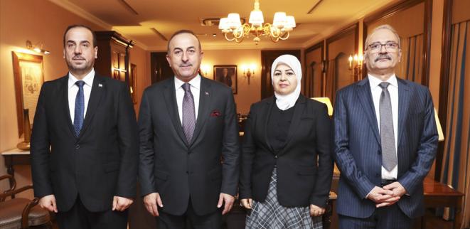 """صورة جاويش أوغلو يبحث مع """"الحريري"""" خطوات تركيا لحل الأزمة"""