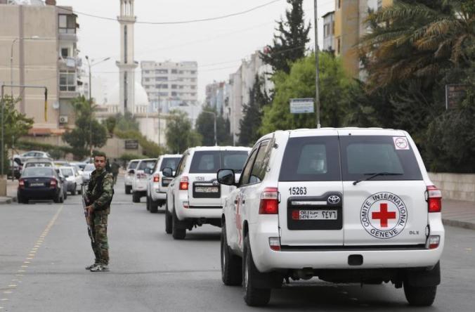 صورة إجلاء مرضى من الغوطة مقابل أسرى للأسد