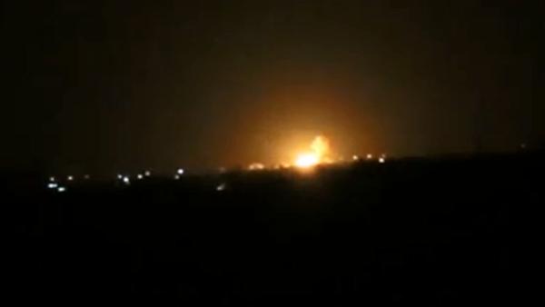"""صورة غارات إسرائيلية تستهدف """"البحوث العلمية"""" بدمشق"""