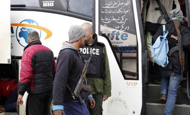 صورة اتفاق لنقل مقاتلي المعارضة من غرب دمشق إلى إدلب ودرعا