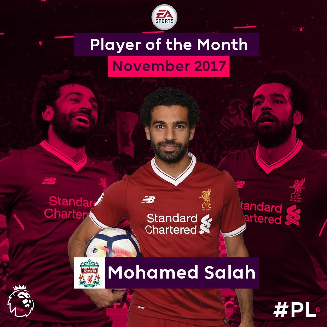 صورة محمد صلاح أفضل لاعب بالدوري الانكليزي في نوفمبر
