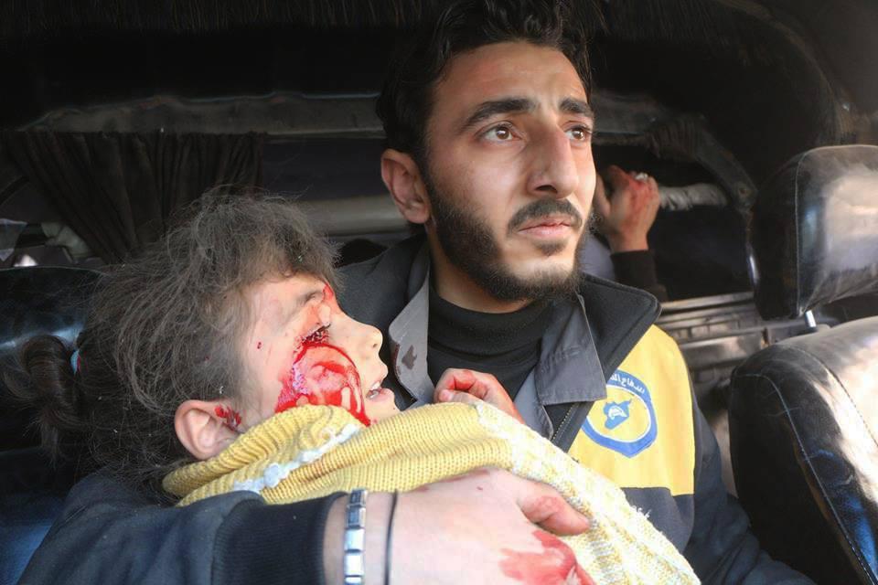"""صورة الحريري يحذر من """"مضايا"""" ثانية في الغوطة"""