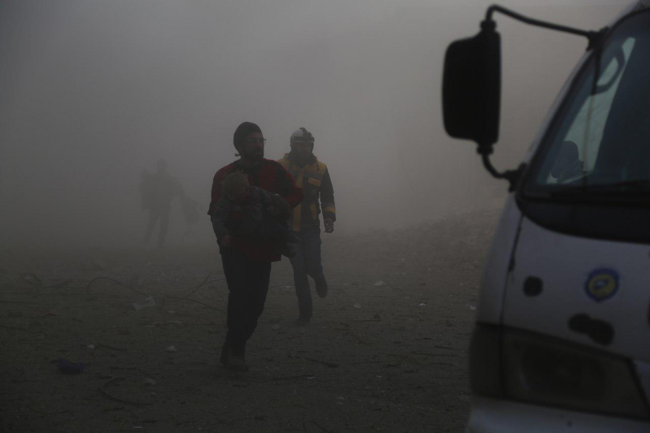 صورة مجزرة جديدة ترتكبها قوات الأسد بغوطة دمشق