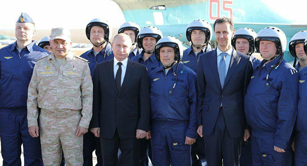 """صورة بوتين لـ""""الأسد"""": سنواصل الدفاع عن السيادة السورية"""