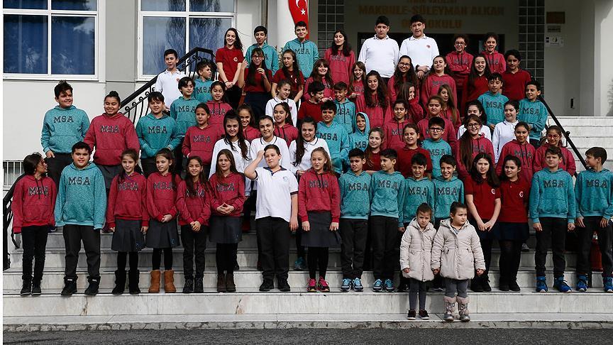 صورة المصادفة  تجمع 34 توأما تركيا بمدرسة واحدة