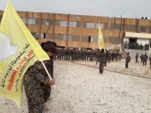 """صورة برعاية التحالف..تخريج أول دفعة """"حرس حدود"""" كردية"""