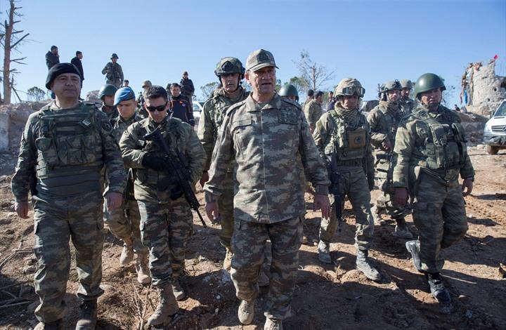 """صورة قائد الجيش الثاني التركي يجري زيارة إلى جبل """"برصايا"""""""