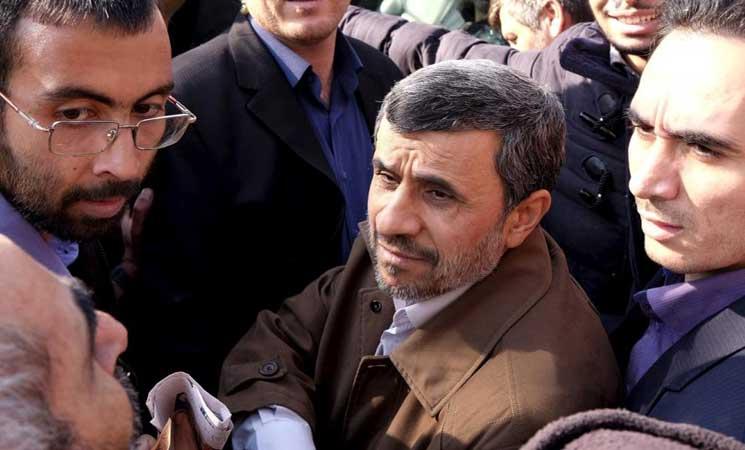 """صورة اعتقال """"نجاد"""" بعد تصريحات حرضت على الاحتجاجات"""