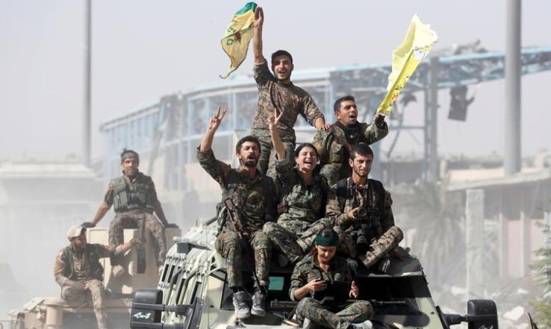 """صورة قوات """"قسد"""" تحذر تركيا من توسيع هجومها"""