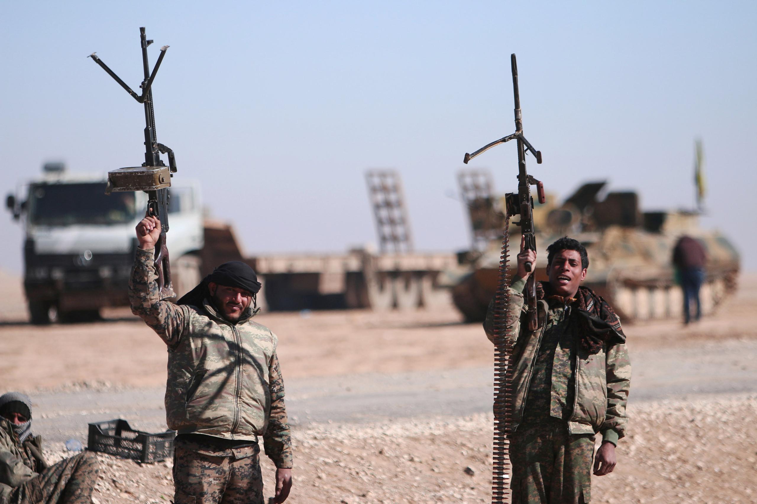 صورة قوة حدودية للتحالف الدولي في سوريا