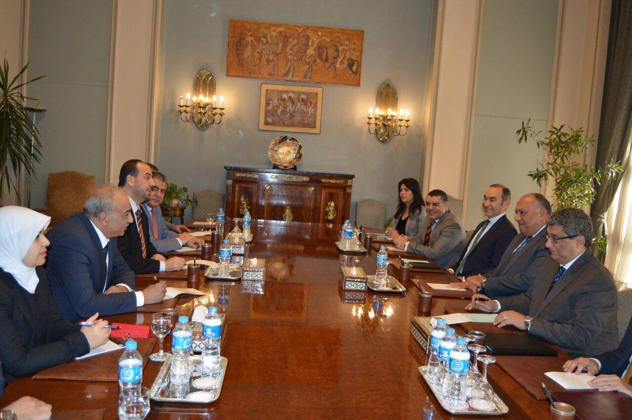 صورة العليا للمفاوضات تلتقي وزير الخارجية المصري والأمين العام للجامعة العربية