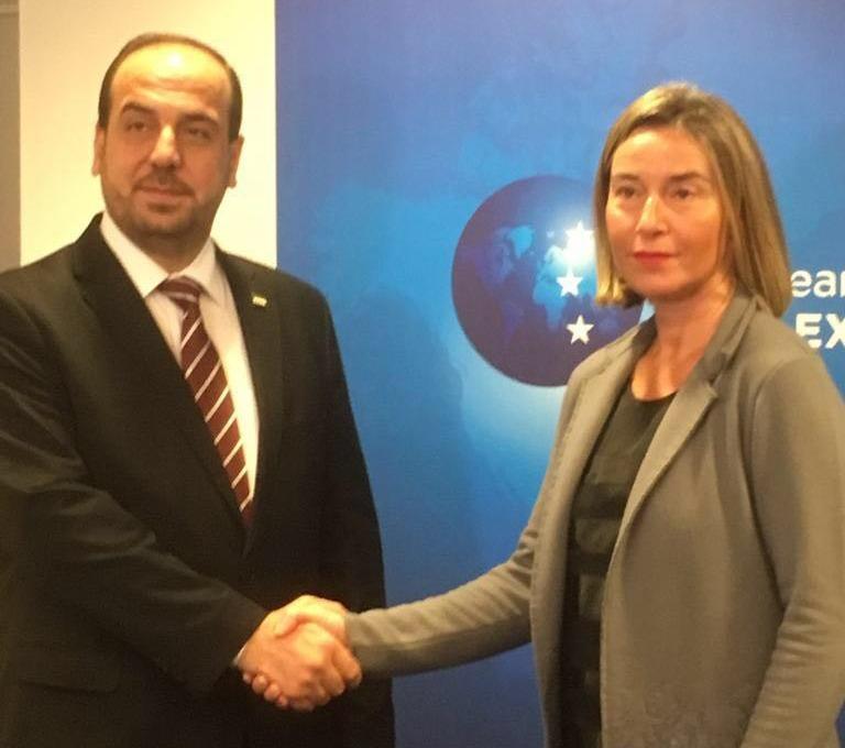 """صورة موغريني لـ""""الحريري"""": العقوبات الأوروبية على الأسد لن ترفع"""