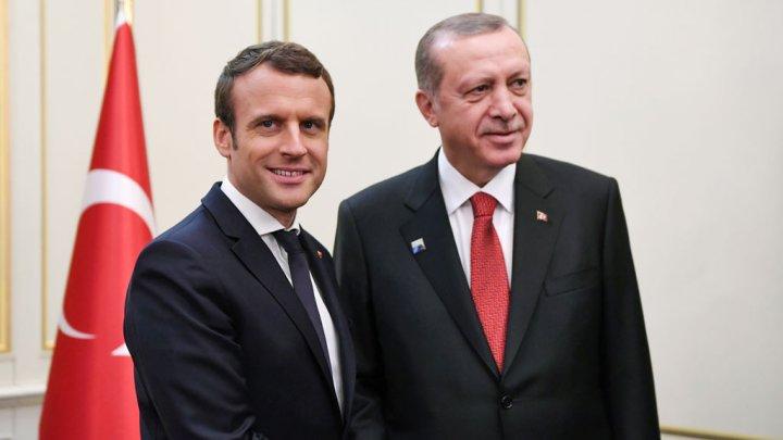 """صورة أردوغان وماكرون يبحثان هاتفيا """"غصن الزيتون"""""""