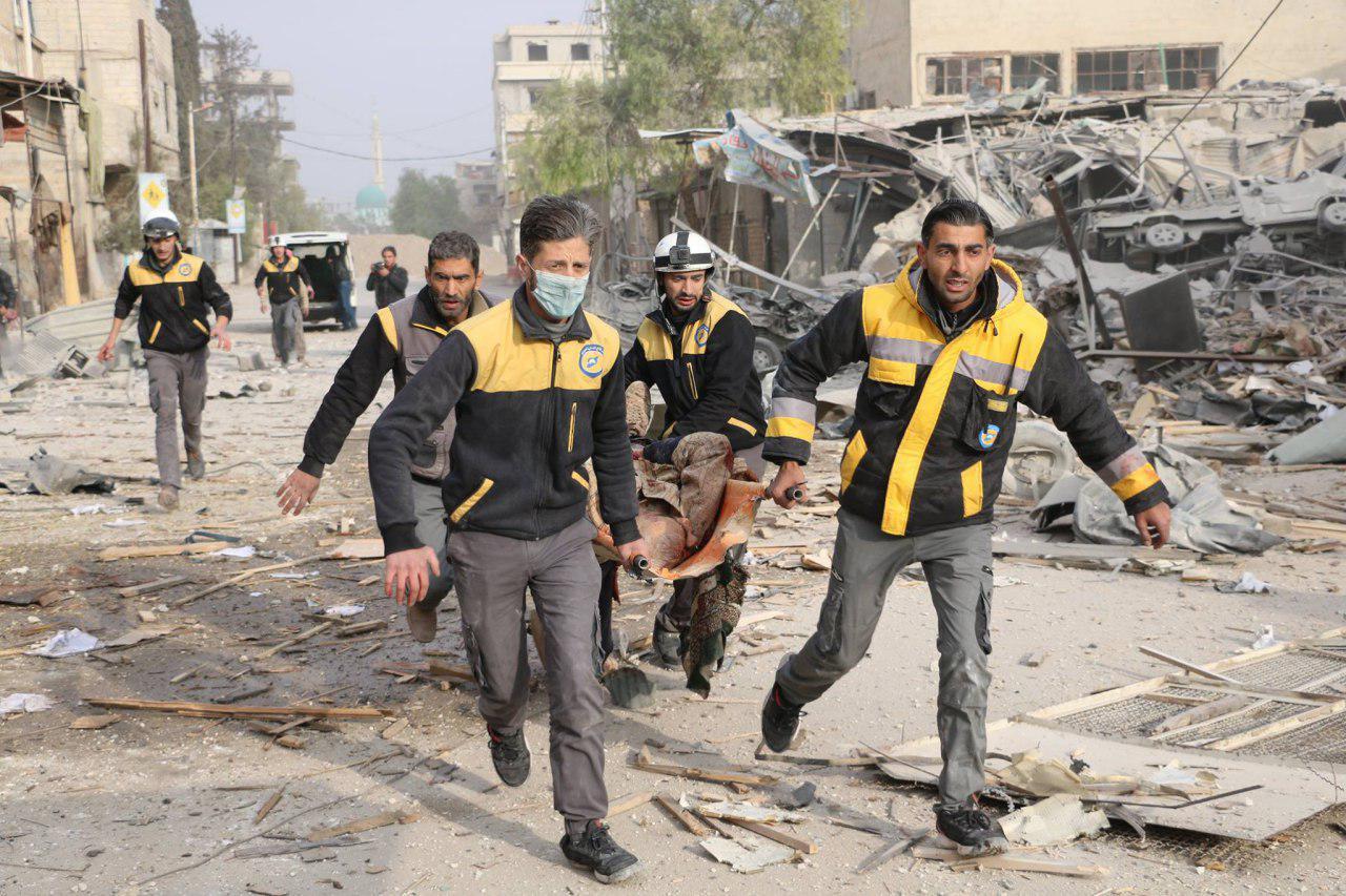 صورة انتقام مشترك للنظام وروسيا من غوطة دمشق