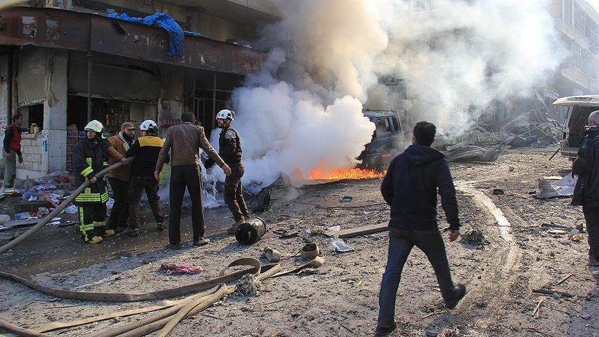 صورة 7ضحايا بقصف روسي على سوقا شعبياً بأريحا