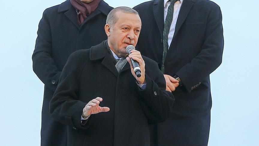 صورة أردوغان يتوعد مطلقي القذائف تجاه تركيا
