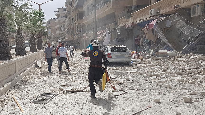 صورة الحملة على إدلب تدخل أسبوعها الثالث..والائتلاف يدين