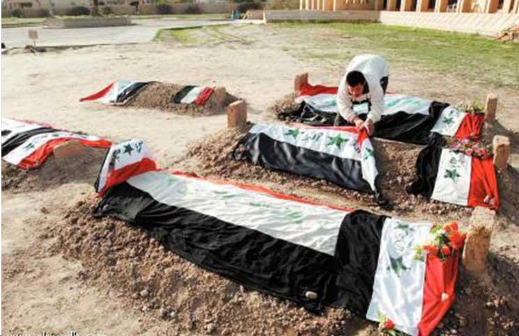صورة الحشد العراقي تفجّر قبورا لعائلة صدّام حسين