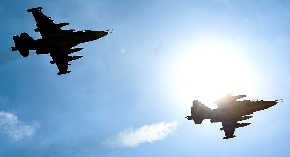 صورة سو-25 تسقط عند أول اختبار لها بسوريا