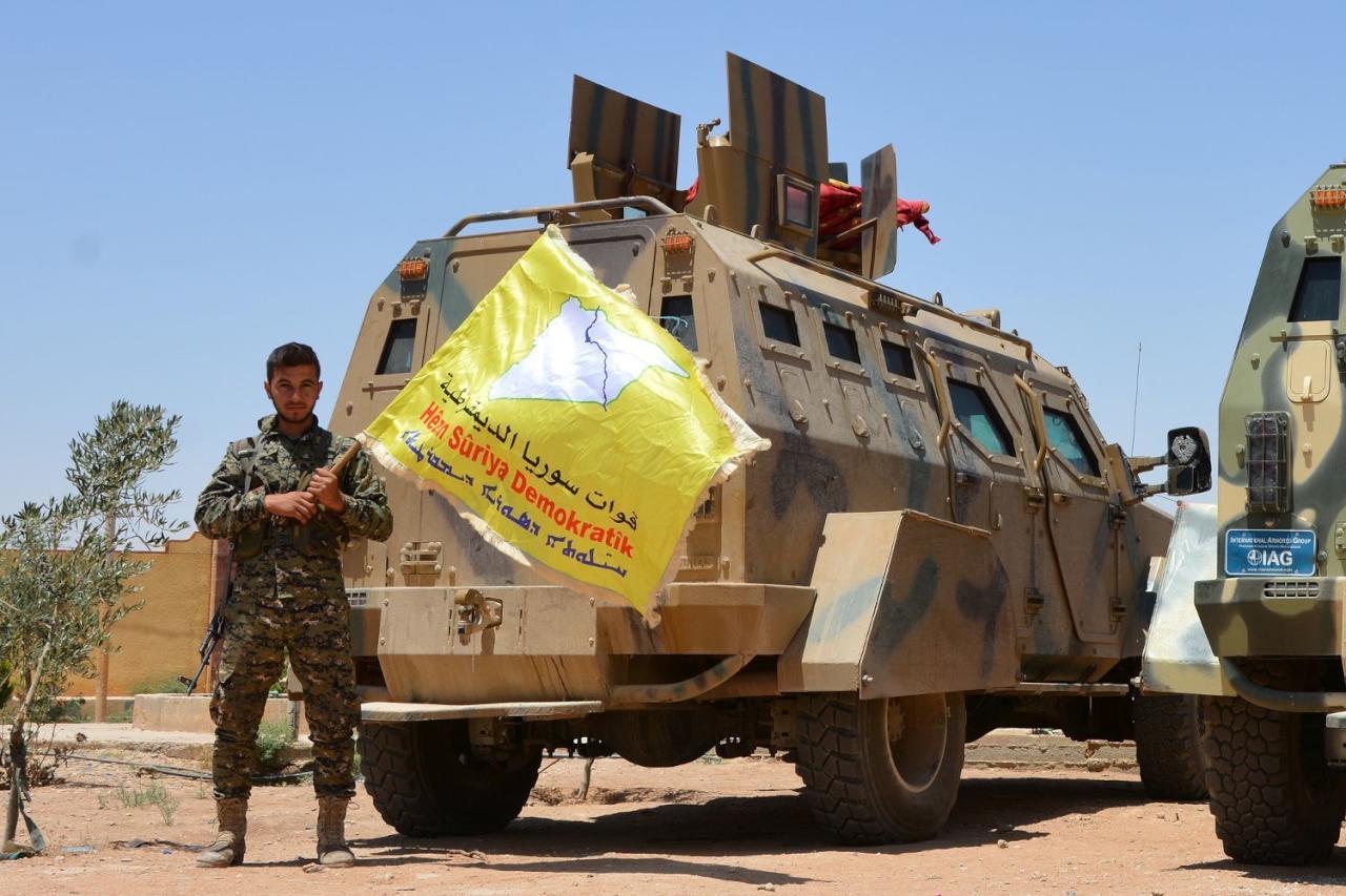 """صورة الاستخبارات الأمريكية: """"بي كا كا"""" تسعى لإقامة منطقة مستقلة في سوريا"""