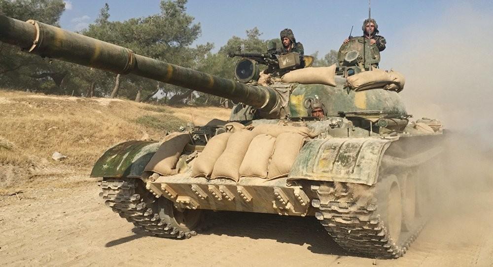 """صورة سوريا..التحالف يدمر دبابة روسية متطورة """"مجهولة النسب"""""""
