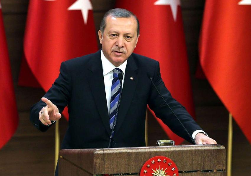 صورة أردوغان: الجيش التركي أجبر ميليشيات شيعية على التراجع بعفرين