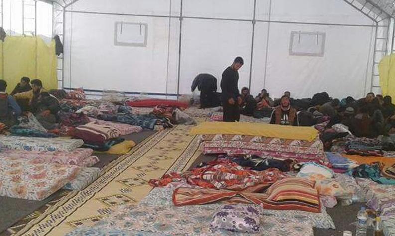 صورة معاناة مهجري مخيم خان الشيح إلى إدلب تتفاقم